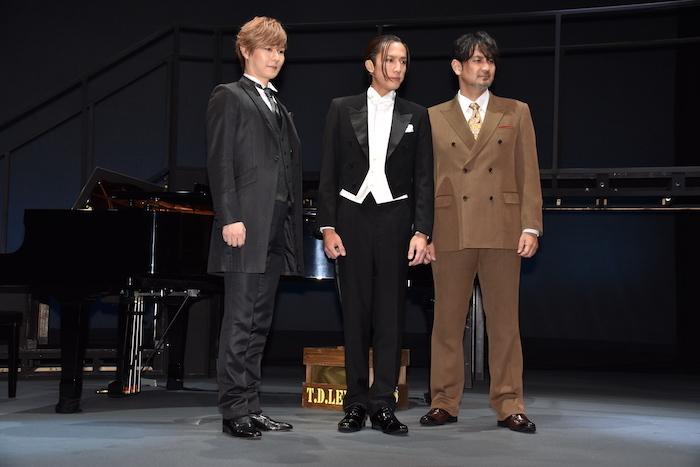 (左から)西尾周祐、内博貴、藤本隆宏  (C)2021.海の上のピアニスト(撮影:五月女菜穂)