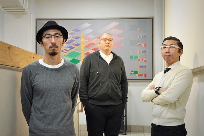 THE ROB CARLTONメンバーたち。(左から)村角ダイチ、満腹満、ボブ・マーサム。 [撮影]吉永美和子(人物すべて)