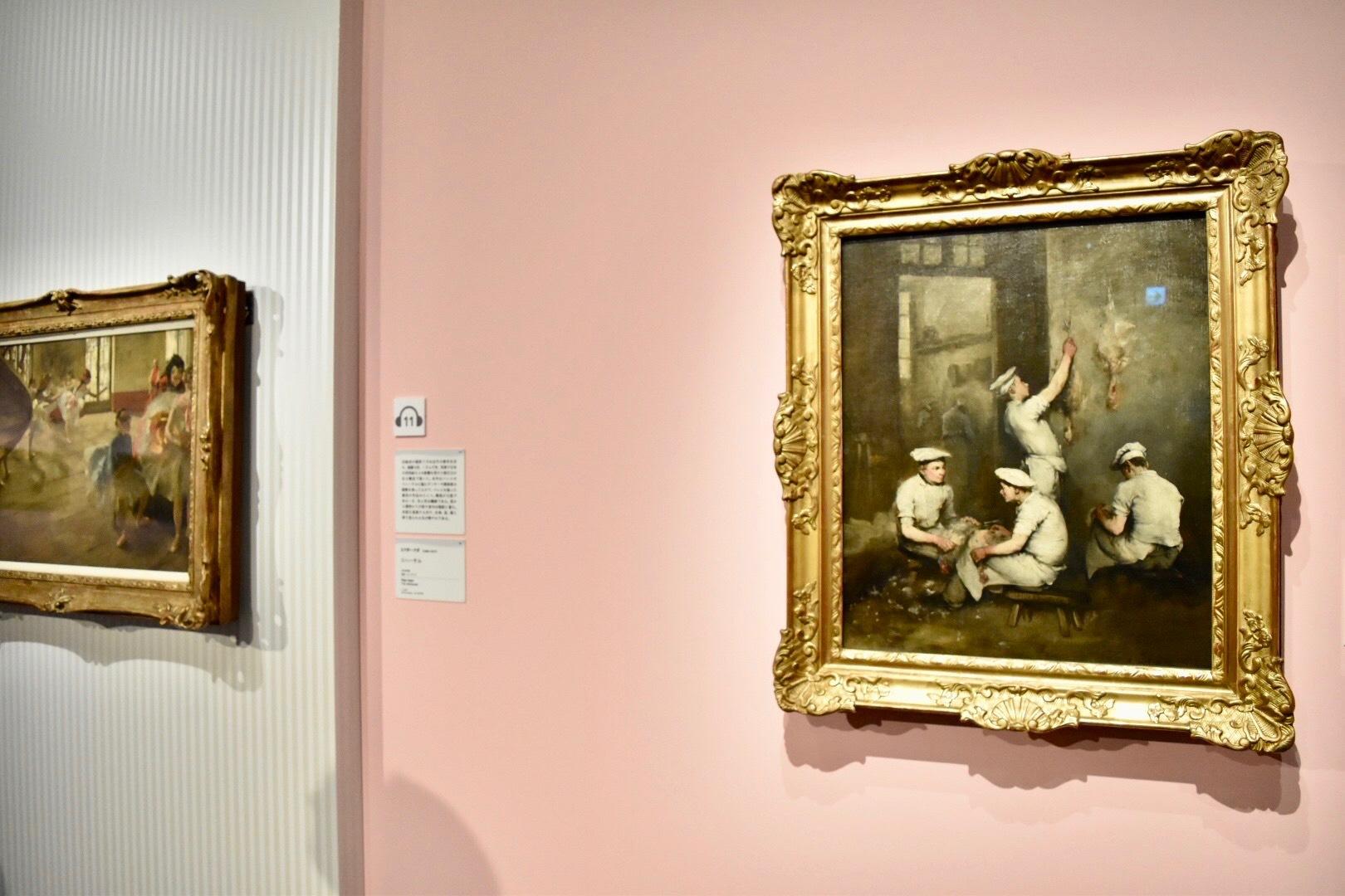 右:テオデュール・リボー 《調理人たち》 1862年 油彩、カンヴァス (C)CSG CIC Glasgow Museums Collection