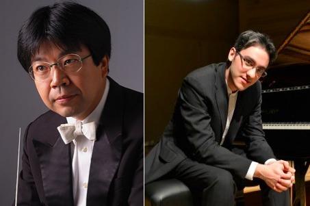 指揮/高関健(左)ピアノ/アレクサンデル・ガジェヴ(右)
