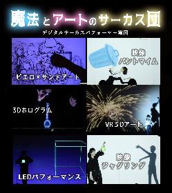 VRやホログラムなどの最新技術を駆使したパフォーマンス集団「魔法とアートのサーカス団」が結成