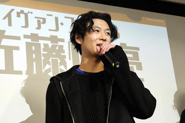 ルキーノ・グレゴレッティ役の山内圭輔  撮影:松本裕美