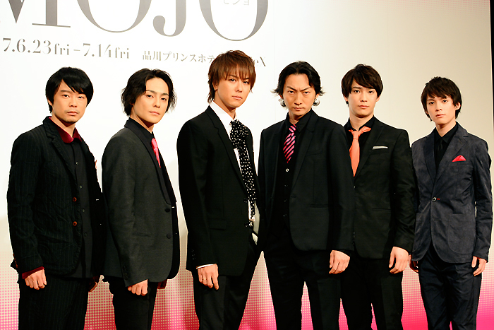 左から、尾上寛之、木村了、TAKAHIRO、波岡一喜、味方良介、横田龍儀 舞台「MOJO」製作発表記者会見