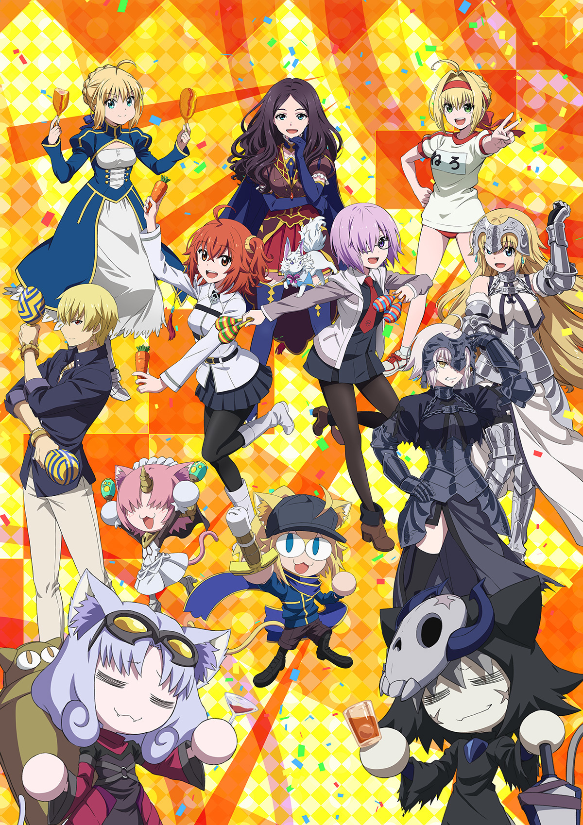 『Fate/Grand Carnival』最新キービジュアル (C)TYPE-MOON / FGC PROJECT