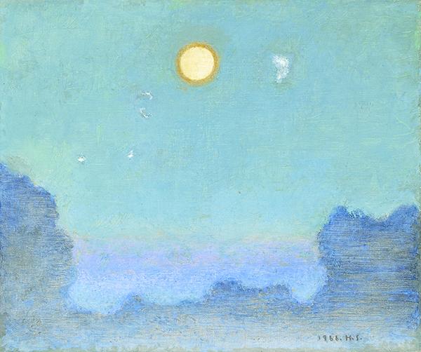 《月》油彩・カンヴァス 1966年 無量寿院(福岡県立美術館寄託)