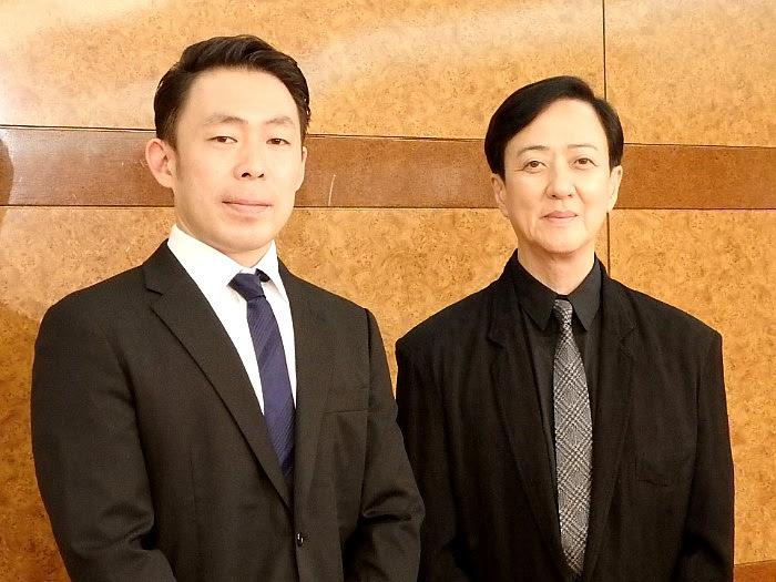左:石塚充 右:坂東玉三郎 『幽玄』記者会見より