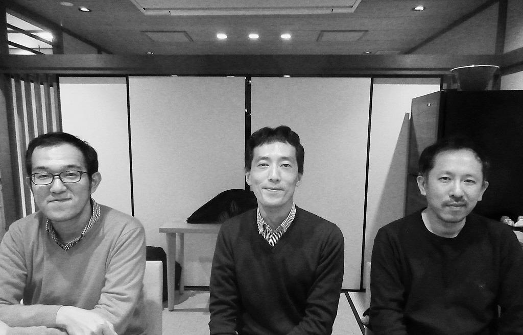 (左から)上田誠、森見登美彦、万城目学