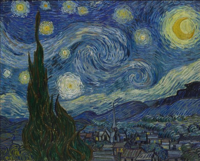 「The-Starry-Night-」(星月夜)