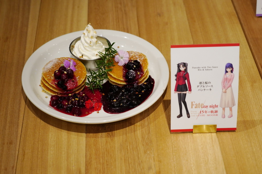 凛と桜のダブルソースパンケーキ 1,280円(税抜)撮影:斉藤直樹