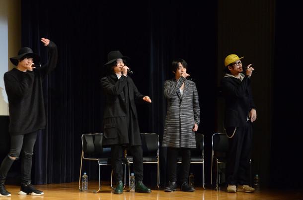 [Alexandros]「[Alexandros]『Girl A』発売記念スペシャルトークイベント」東京・新宿明治安田生命ホール公演の様子。