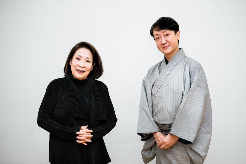 (左から)波乃久里子、河合雪之丞