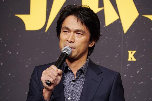 江口洋介 映画『孤狼の血』製作発表会