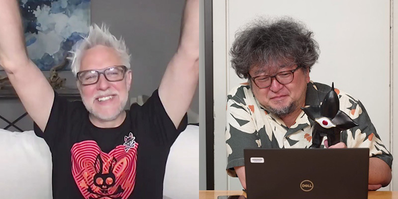 左から、ジェームズ・ガン監督、樋口真嗣監督