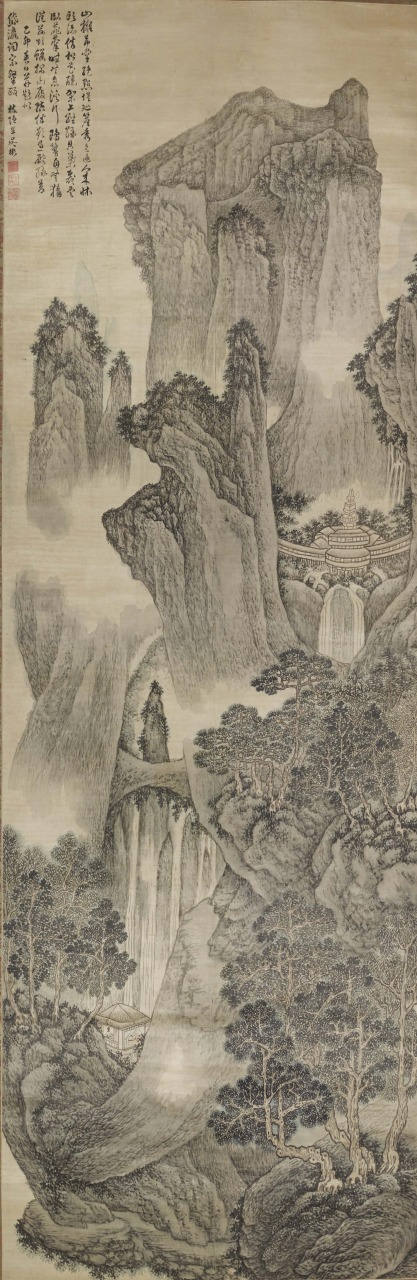 呉彬「渓山絶塵図」明・万暦43年(1615) (橋本コレクション) 画像提供:東京国立博物館 Image:TNM Image Archives
