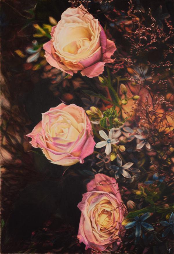 《バラ》2004年、みぞえ画廊