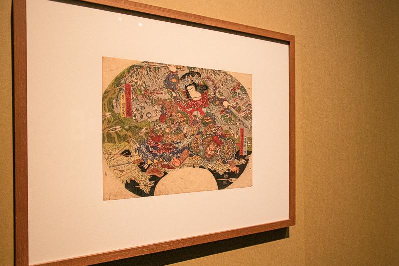 歌川国安《水滸伝豪傑百八人之個 矮脚虎王英 扈三娘一丈青》日本浮世絵博物館(前期展示)