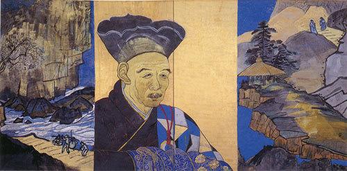 片岡球子《面構 雪舟》1997年 神奈川県立近代美術館