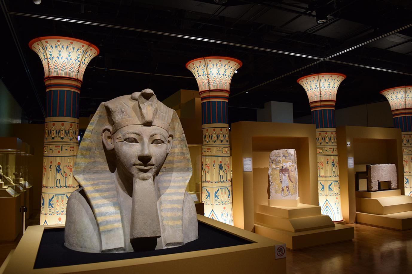 『国立ベルリン・エジプト博物館所蔵 古代エジプト展 天地創造の神話』展示風景