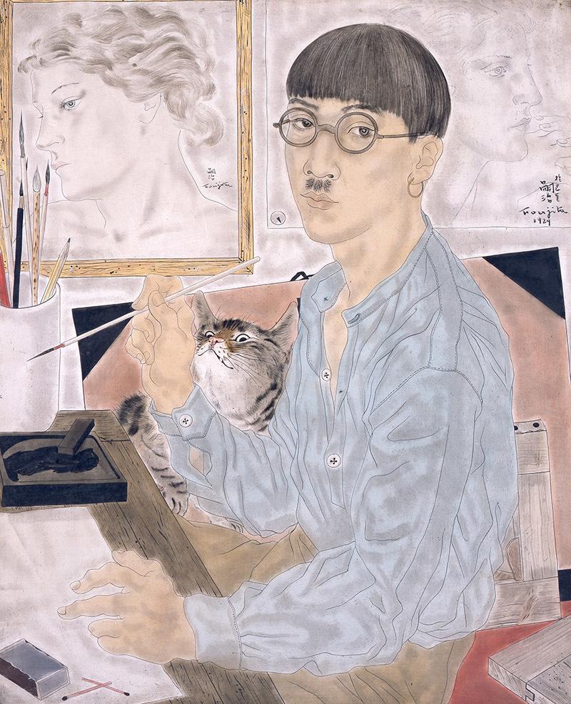 《自画像》 1929年 東京国立近代美術館蔵 / (C) Fondation Foujita / ADAGP, Paris & JASPAR, Tokyo, 2017 E2833