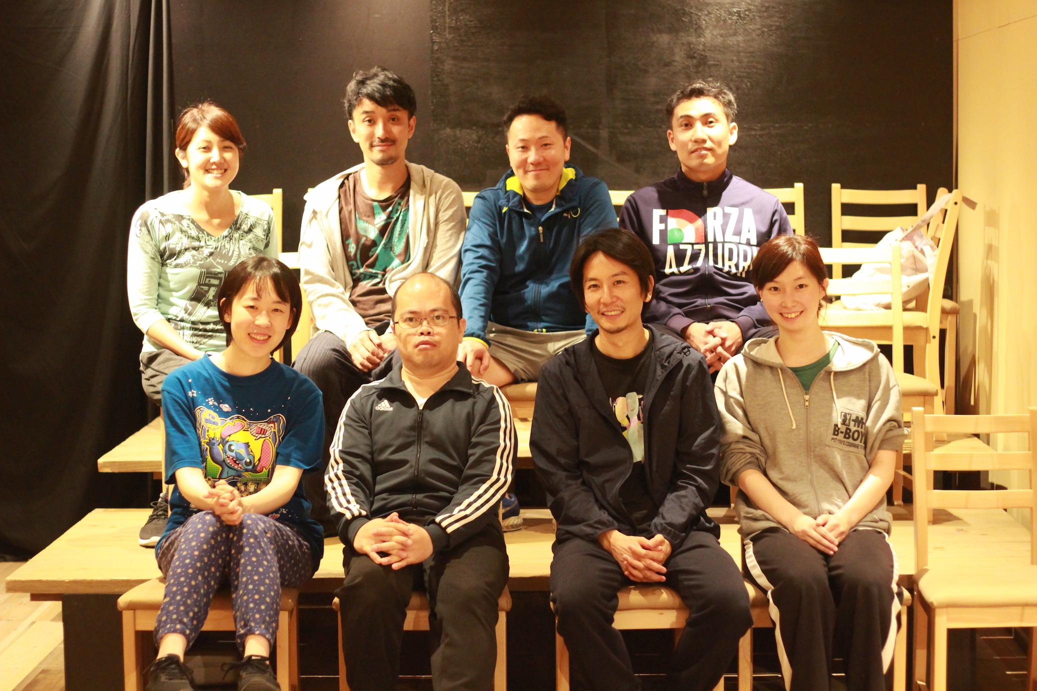 2018年『土砂降りボードビル』の出演者たち