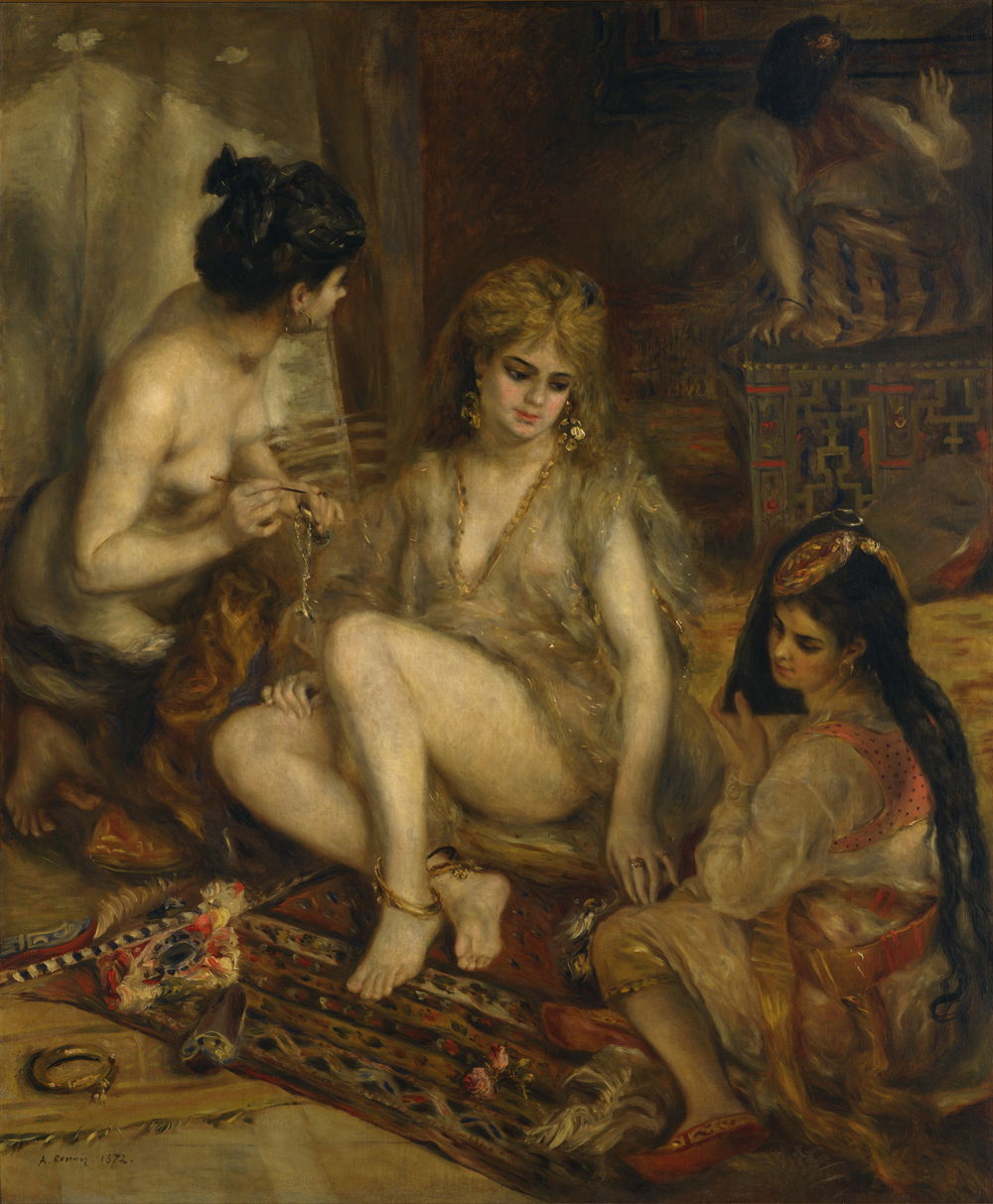 ピエール=オーギュスト・ルノワール《アルジェリア風のパリの女たち(ハーレム)》 1872年  油彩、カンヴァス 国立西洋美術館(松方コレクション)