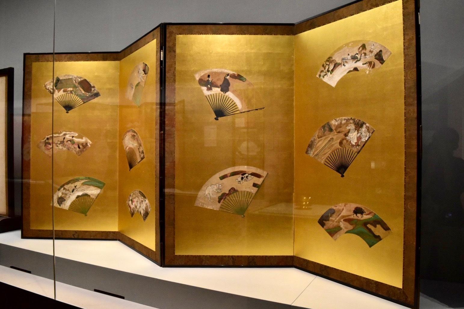 重要文化財《扇面散図屏風》 俵屋宗達筆 江戸時代 17世紀 醍醐寺蔵
