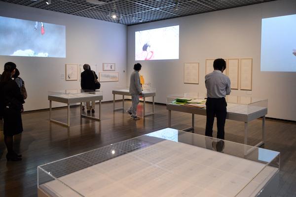 第4章『かぐや姫の物語』の展示風景 (C)2013  畑事務所・Studio Ghibli・NDHDMTK