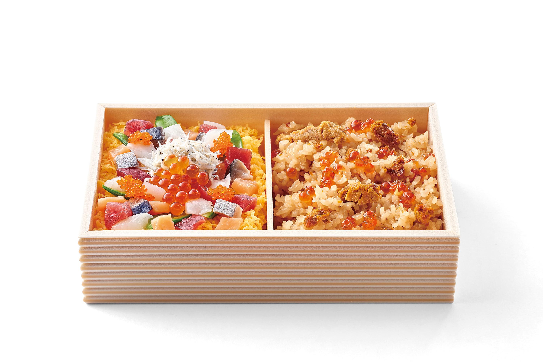利尻うにめしと小田原地魚の海鮮宝石弁当 1,680円