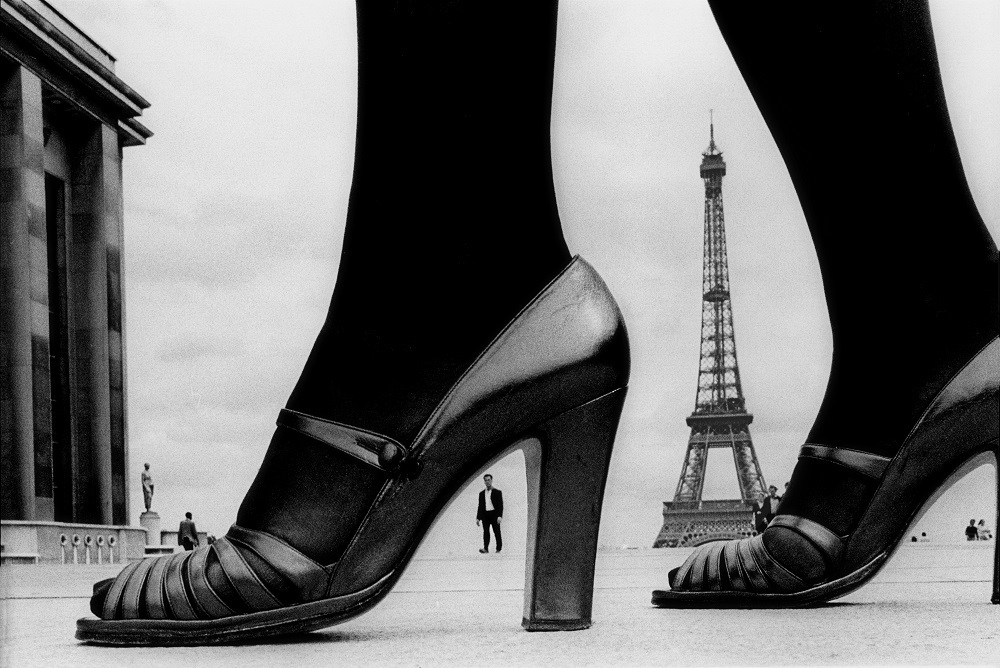 "For ""STERN"", shoes and Eiffel Tower, 1974, Paris, France © Frank Horvat"