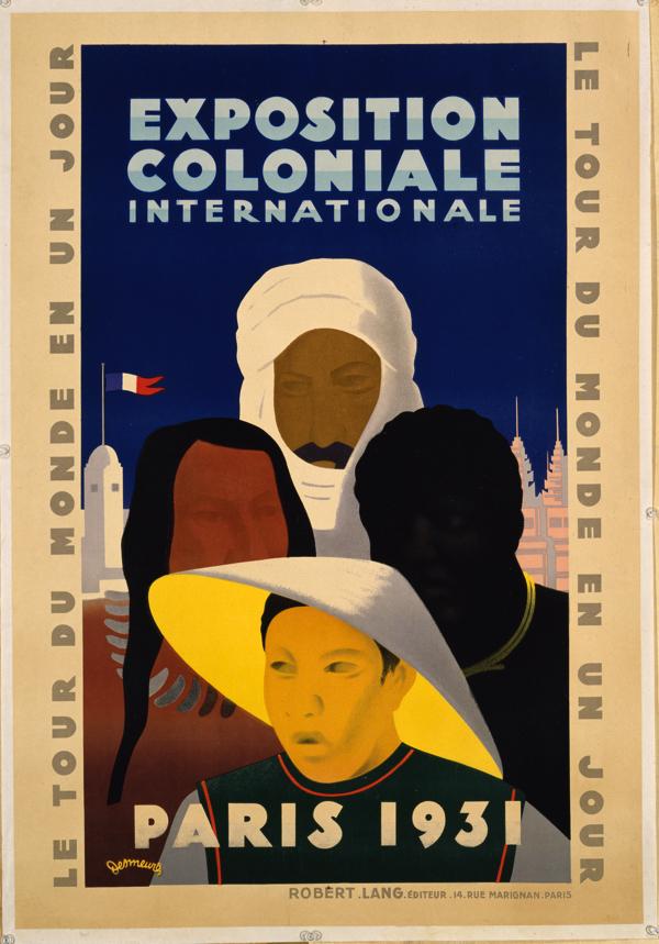 ヴィクトル・デムール《1931年パリ国際植民地博覧会》1931年、×△◯ BA-TSU ART GALLERY