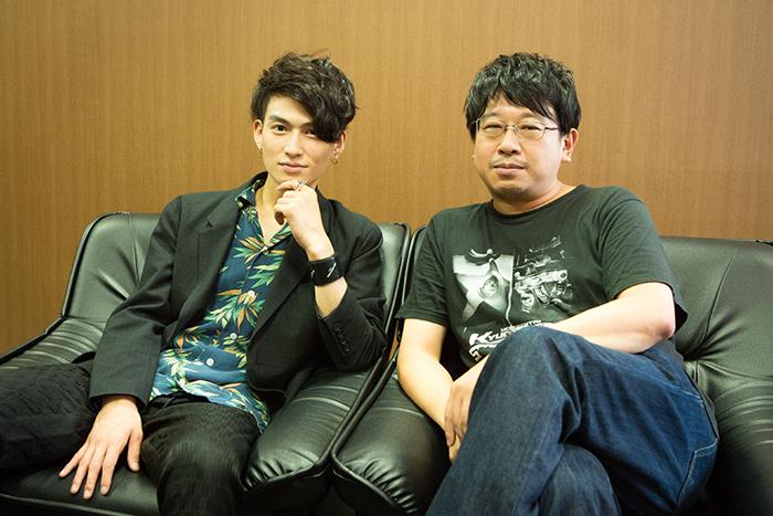 (左から)松田凌、毛利亘宏