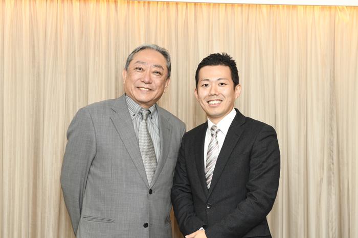 (左から)渋谷天外、藤山扇治郎