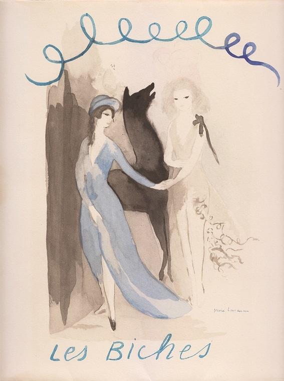 マリー・ローランサン『牝鹿』衣装デザイン・舞台美術/限定書籍『セルゲイ・ディアギレフ劇場《牝鹿》』フランス1924年