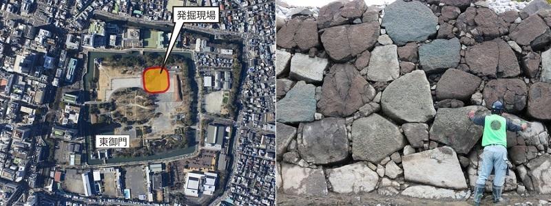 駿府城跡天守台発掘調査