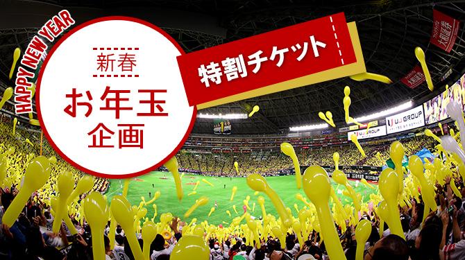 ヤフオクドームで開催される平日ナイターのA指定席引換券(通常価格3,000円)を1,000円で発売