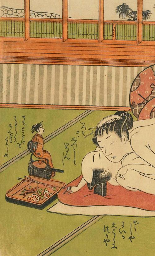 磯田湖龍斎 「俳諧女夫まねへもん 九」(部分) 国際日本文化研究センター