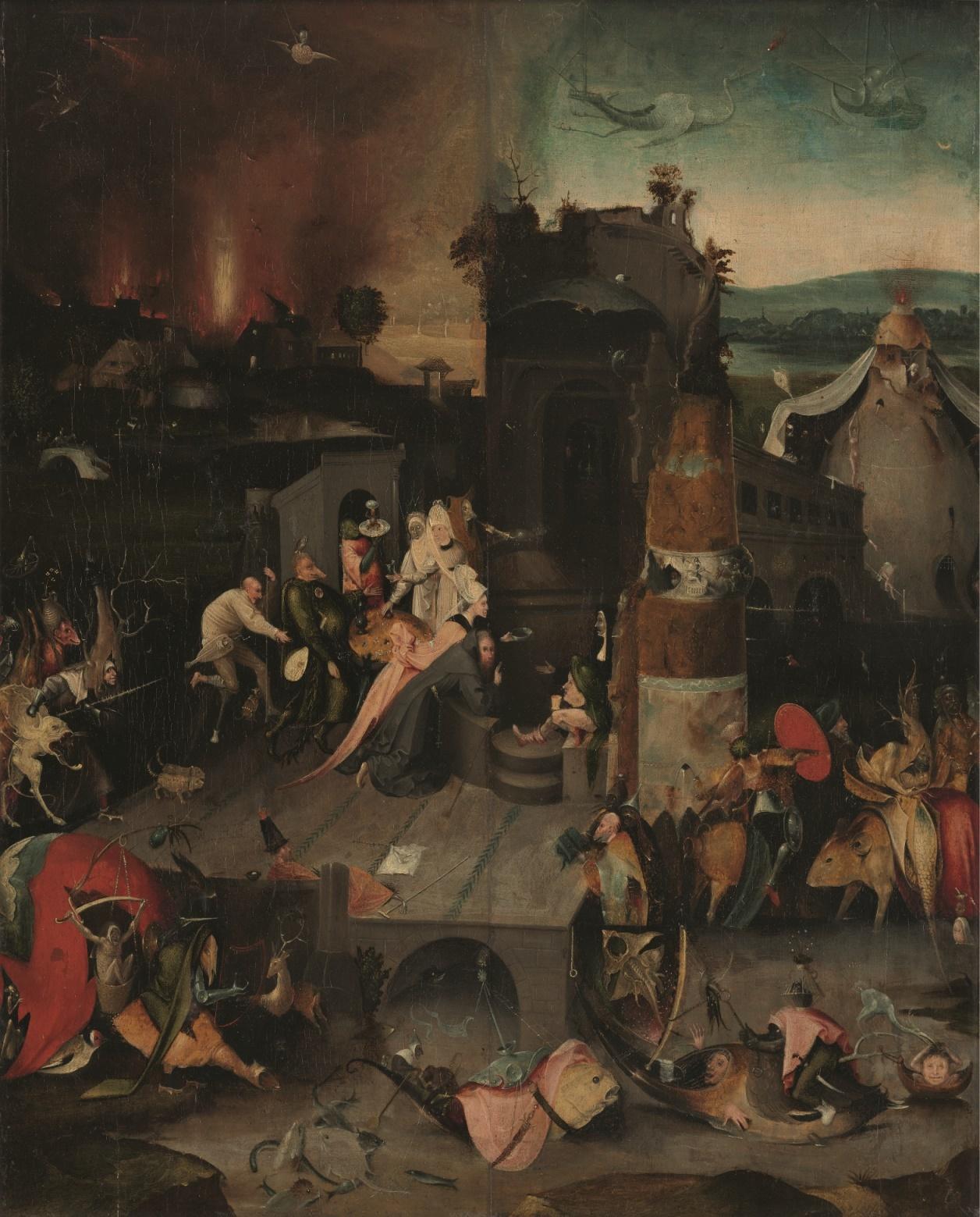 作者不詳(ボス作品の模倣)聖アントニウスの誘惑1540年頃油彩、板Museum BVB, Rotterdam, Netherlands