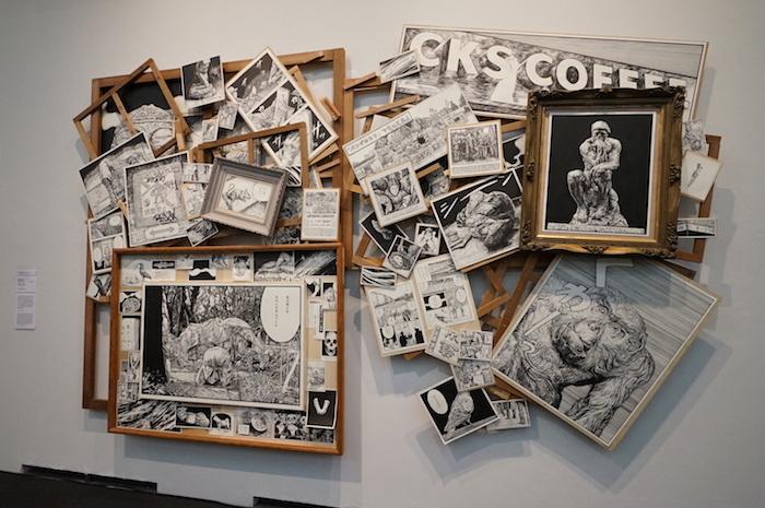 『VOCA展2021 現代美術の展望ー新しい平面の作家たち』 VOCA賞・尾花賢一《上野山コスモロジー》