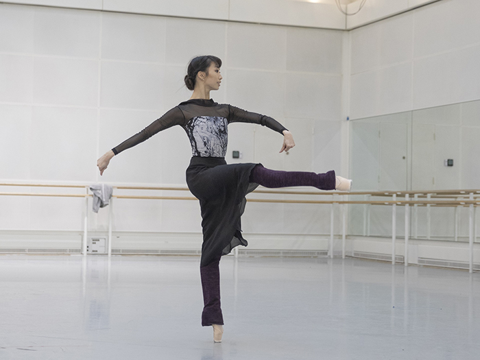 Akane Takada in rehearsal for Don Quixote, The Royal Ballet