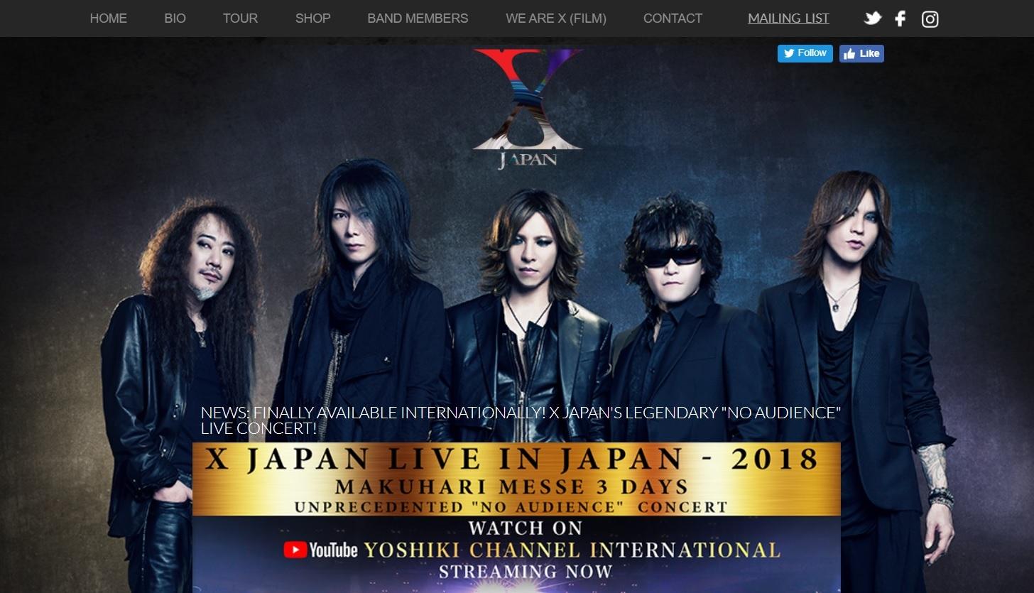 画像はX JAPANオフィシャルサイト