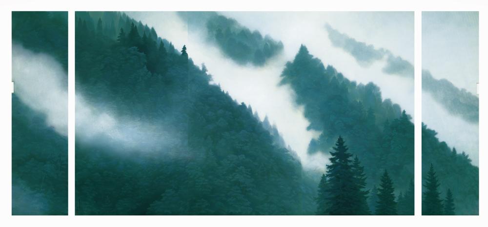 唐招提寺御影堂障壁画のうち、《山雲》(部分)1975年、東山魁夷、唐招提寺蔵
