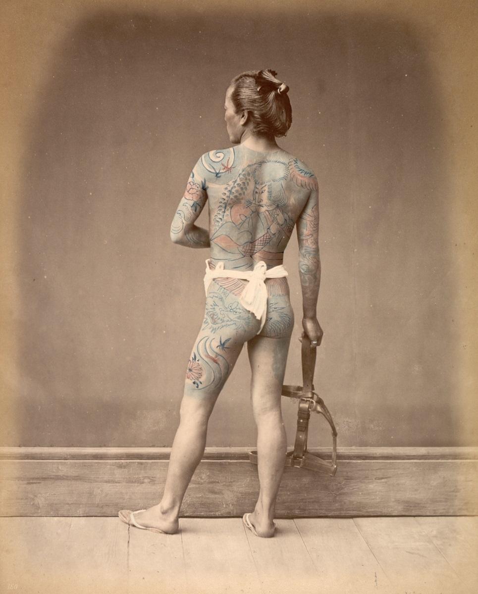 ライムント フォン シュティルフリート 「刺青をした別当」 1877?80年、鶏 卵紙に手彩色