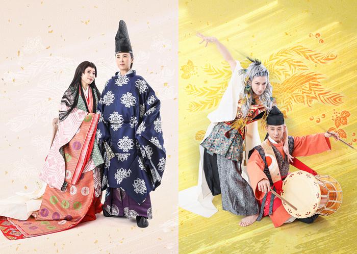 (左から)愛加あゆ、紫吹淳、西島数博、吉井盛