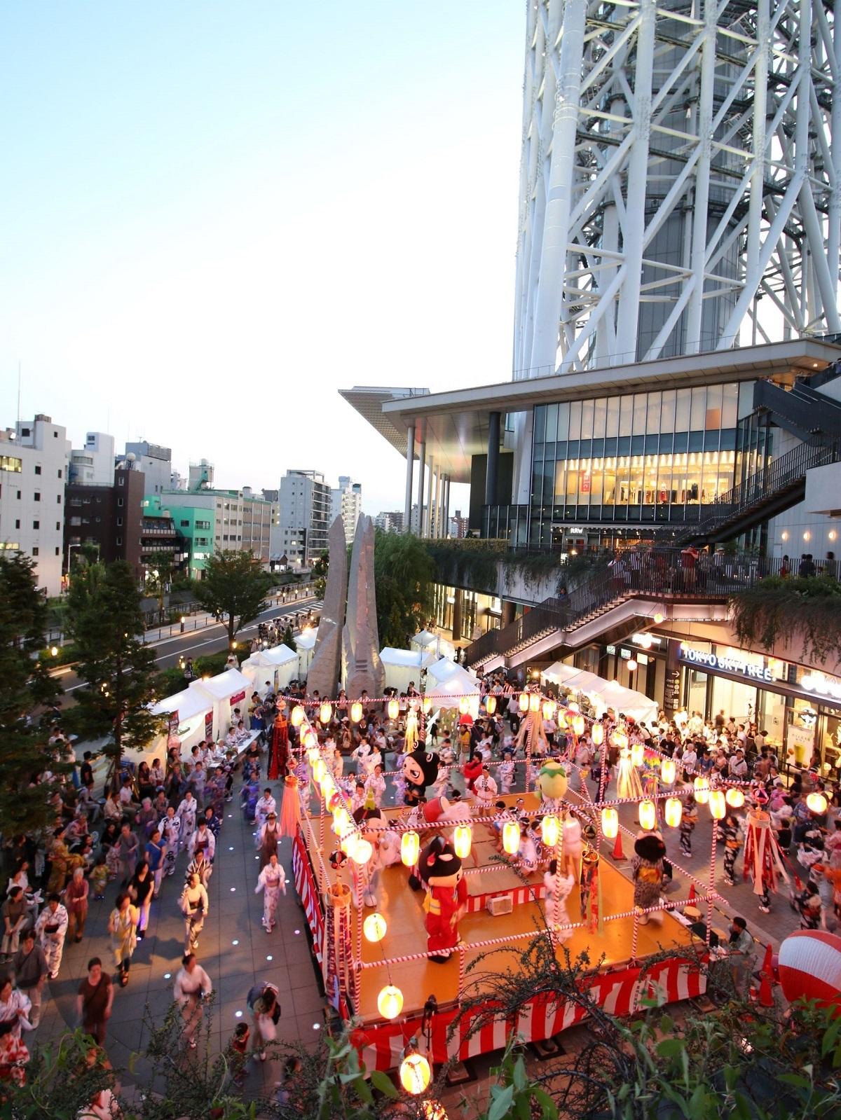 墨田区民納涼民踊大会(昨年の様子)(C)TOKYO-SKYTREETOWN