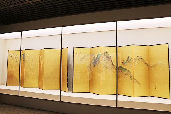 《瀑布(ナイヤガラの滝・万里の長城)》(1911年頃、佐野東石美術館蔵)