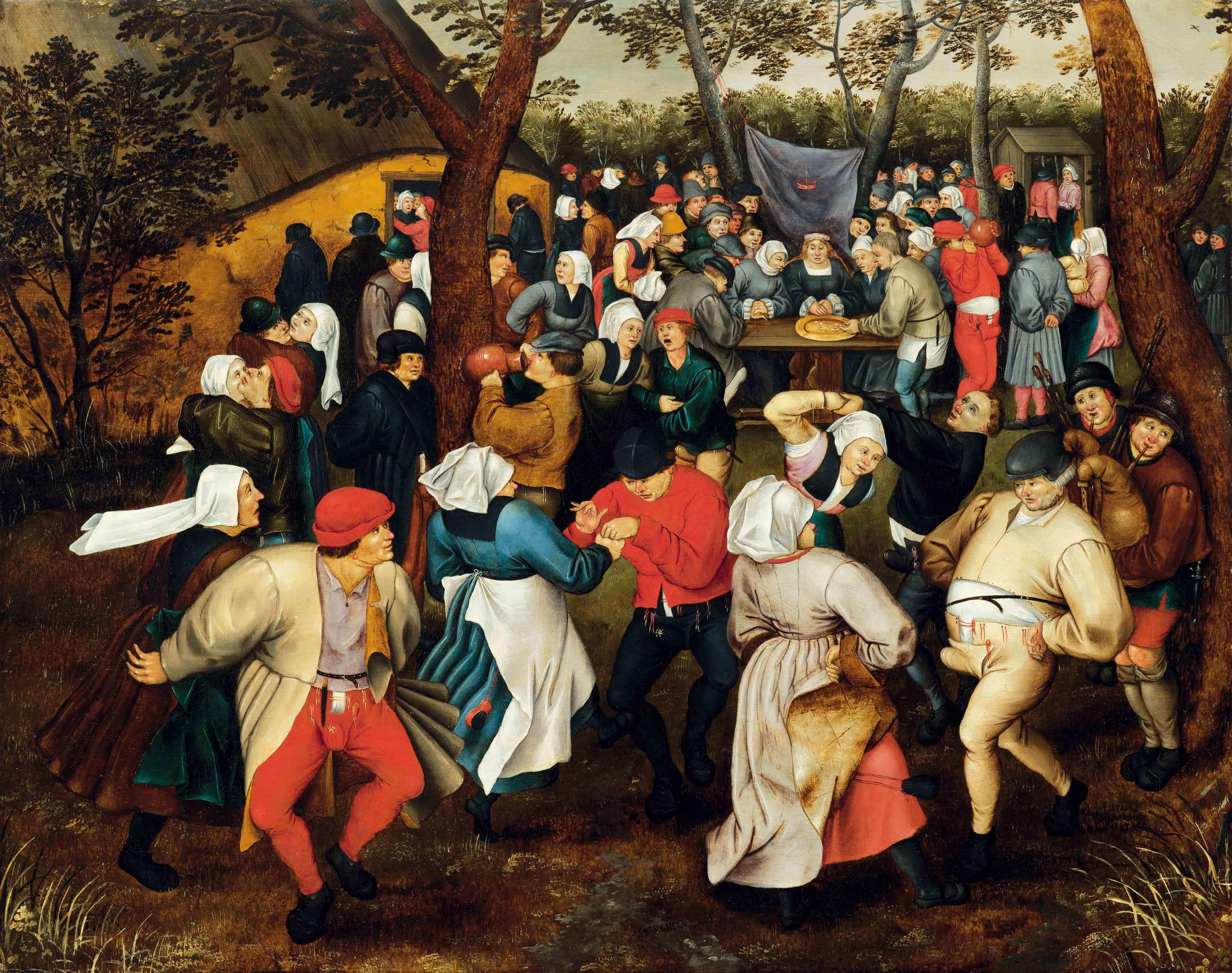 ピーテル・ブリューゲル2世《野外での婚礼の踊り》1610年頃 Private Collection
