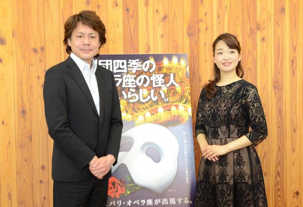 左から佐野正幸、山本紗衣。