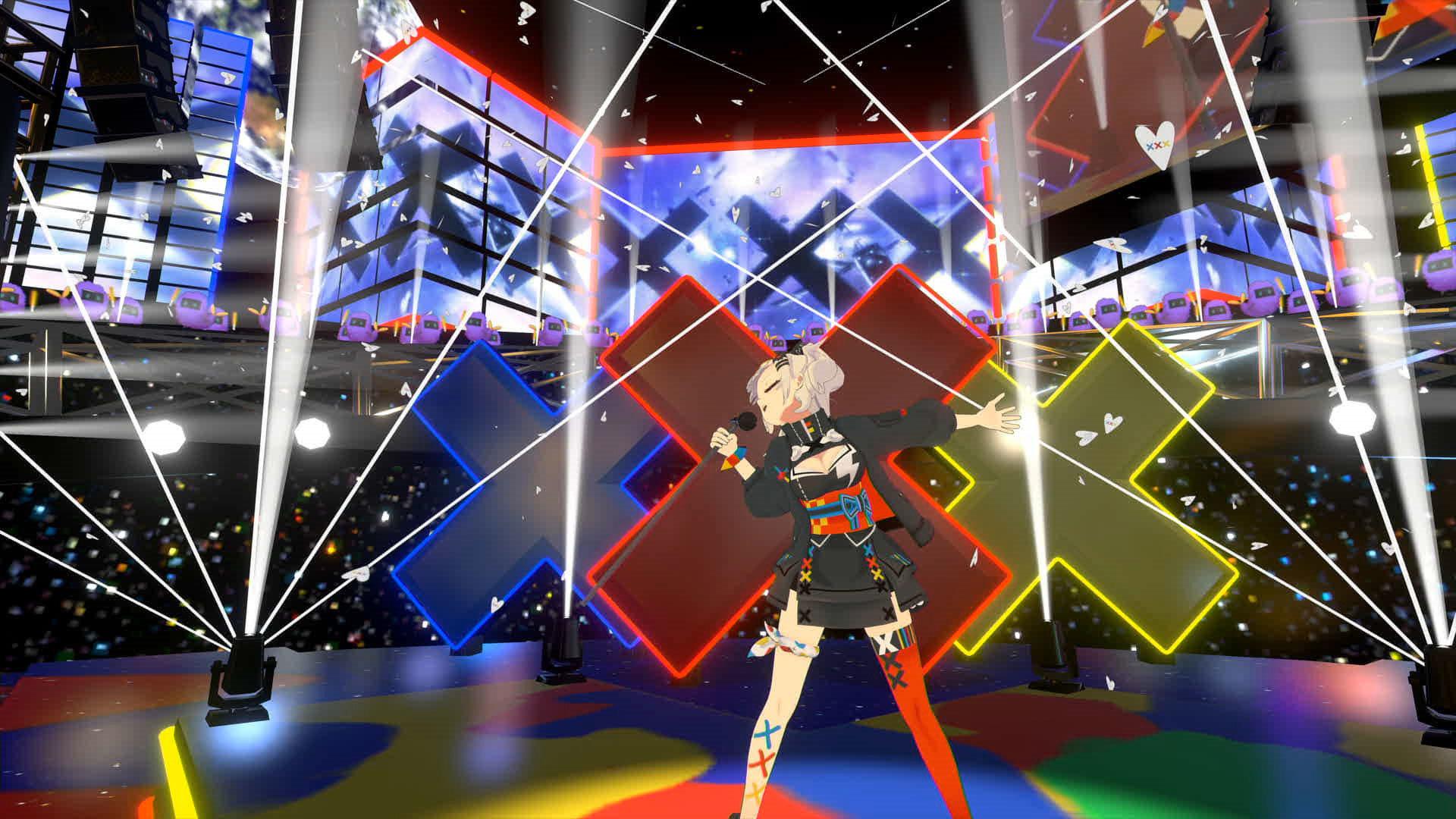 「輝夜 月 LIVE@ZeppVR2」より (C)KAGUYA LUNA / Sony Music Labels Inc. Character Designed by Mika Pikazo