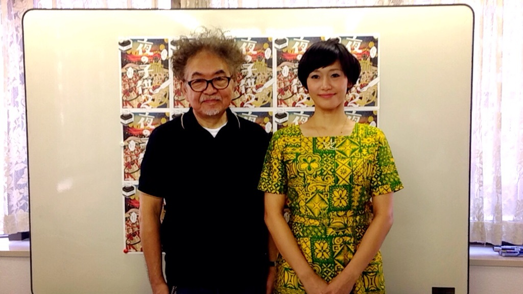 (左から)演出の生田萬、主演のサリngROCK