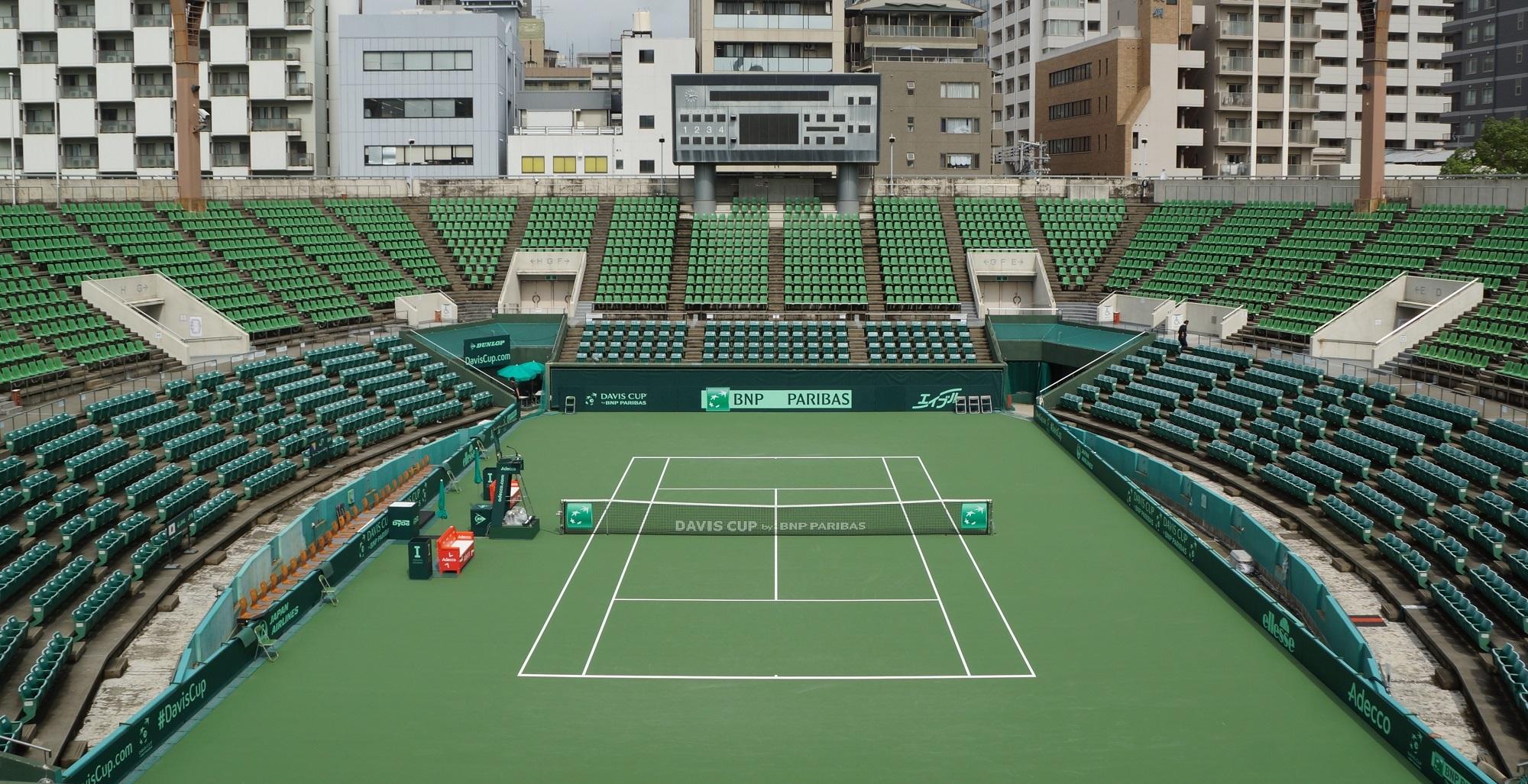 会場はITC靱テニスセンター(大阪府)